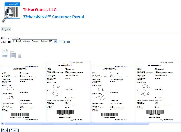 Ticket Tracking Software - GPS Tracking - Trucking Industry Ticket Management - sec